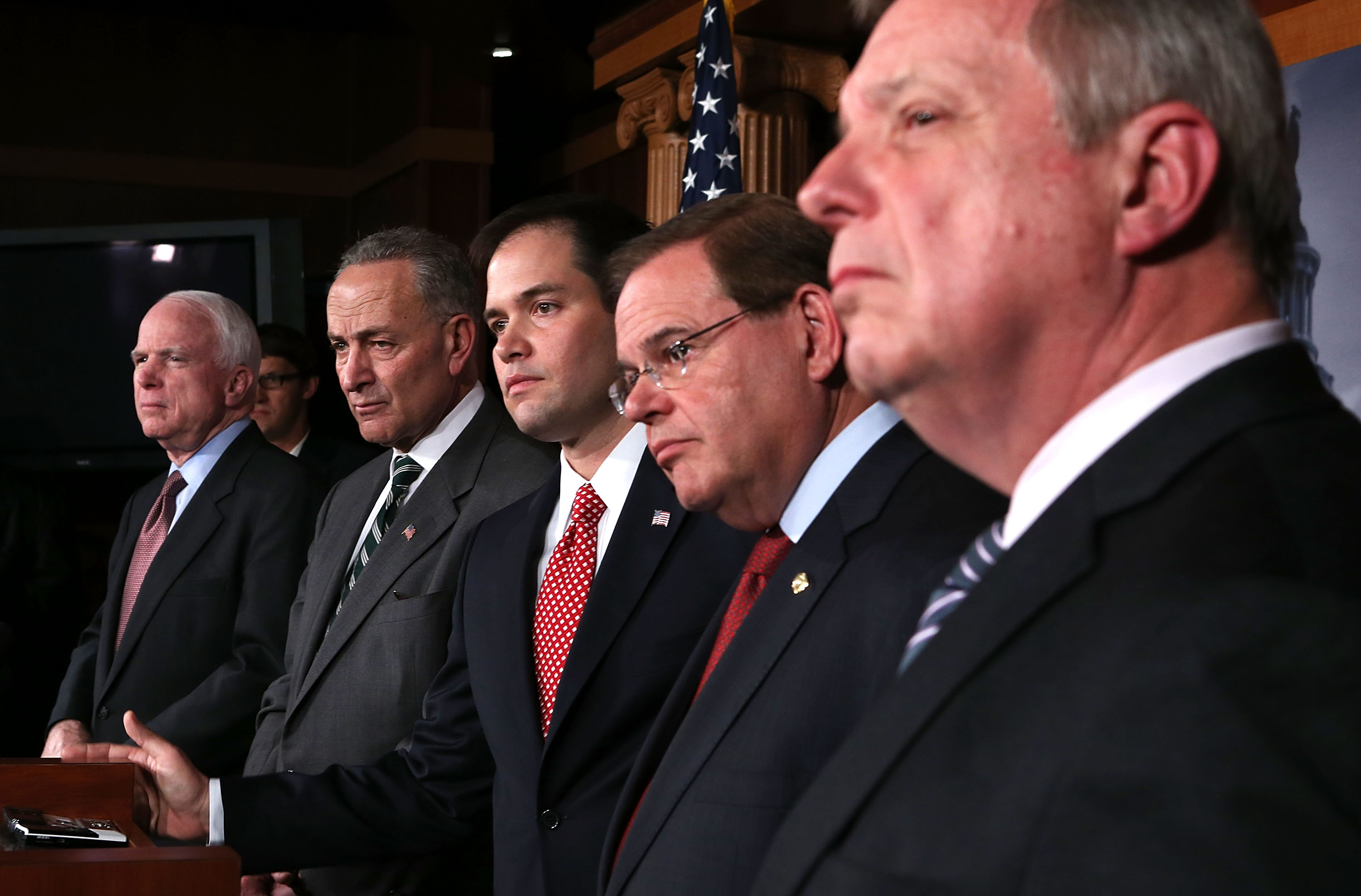 Bipartisan Group Of Senators Announce Major Agreement On Immigration Reform